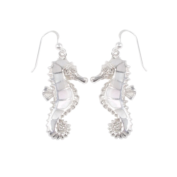 Mother of Pearl Seahorse Earrings