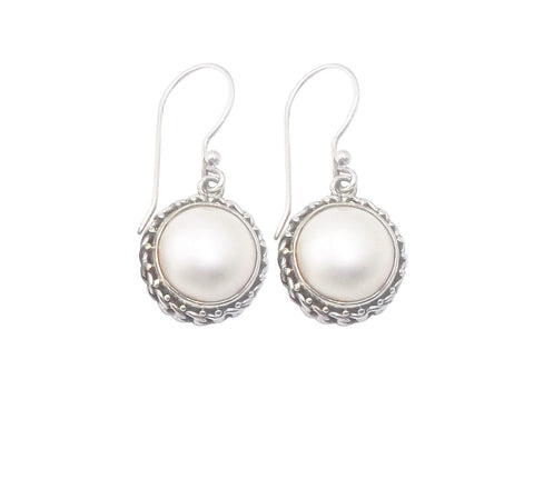 Half Pearl Earrings