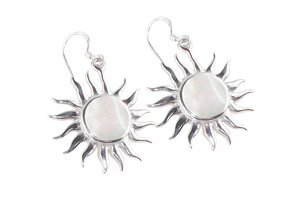 Mother of Pearl Shell Sun Earrings