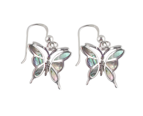Abalone Shell Butterfly Earrings
