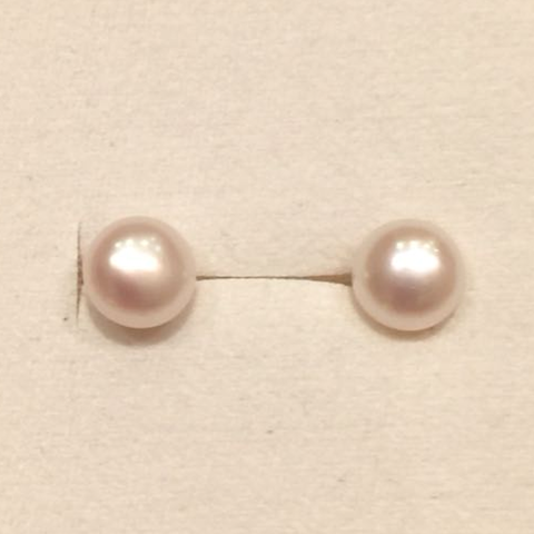 Freshwater Pearl Studs (6mm)