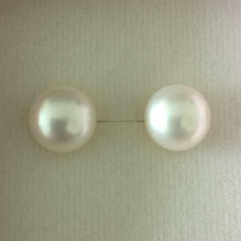 Pearl Stud Earrings (10mm)