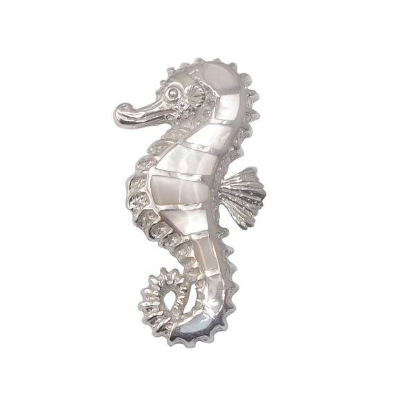 Mother of Pearl Shell Seahorse Pendant