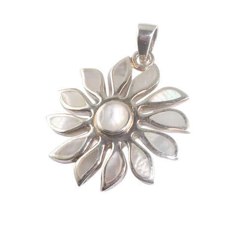 Mother of Pearl Shell Sun Pendant