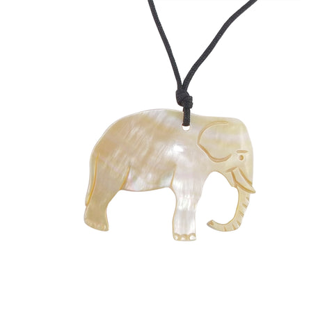 Mother of Pearl Elephant Pendant