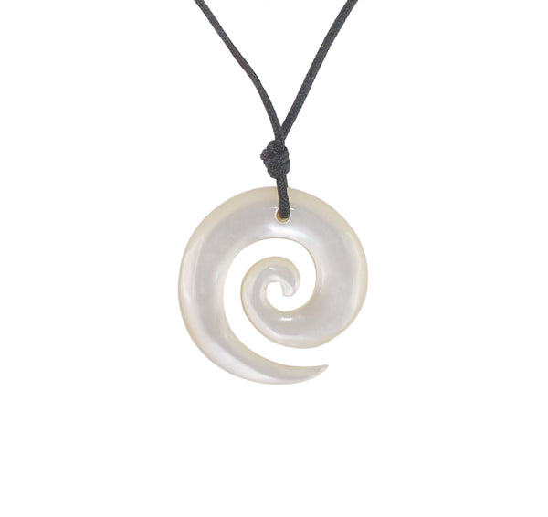 Mother of Pearl Koru Pendant