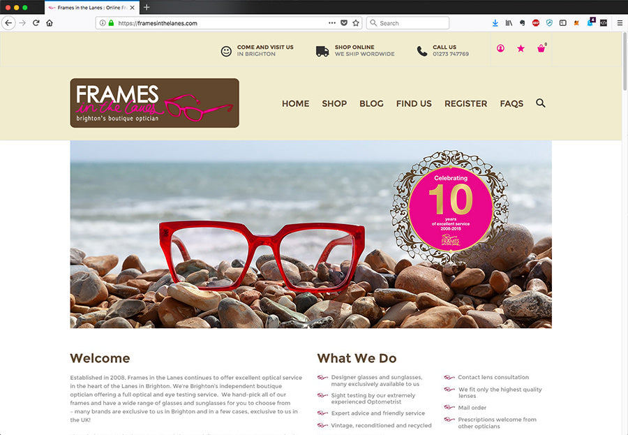 New Frames in the Lanes website