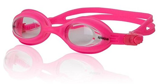 Splaqua Clear Prescription Swimming Goggles (Pink, -1.5)