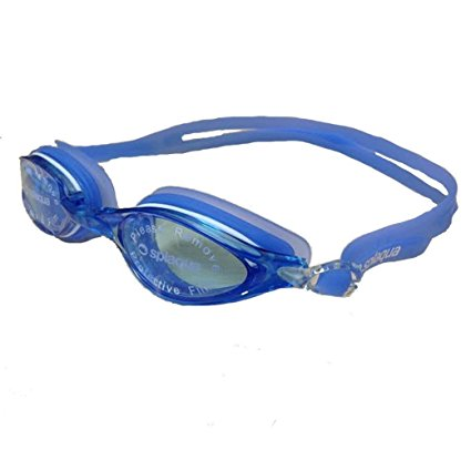 Splaqua Clear Prescription Swimming Goggles (Blue, -1.5)