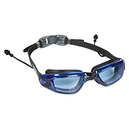 Prescription Swim Goggles Silicone Goggles with Adjustable Fit with Ear Plugs /& Hard Case and UV Protection Anti-Fog