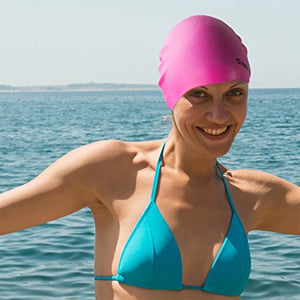 Splaqua Silicone Solid Bathing Swim Cap - BEST QUALITY, COMFORT AND STYLE
