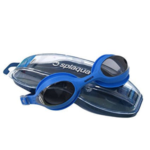 Splaqua Clear Prescription Swimming Goggles (Blue, -3.5)