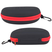 Waterproof Sunglasses and Eyeglasses Case - Durable, Hard EVA Zippered Glasses Holder with Back Pack Clip - by Splaqua