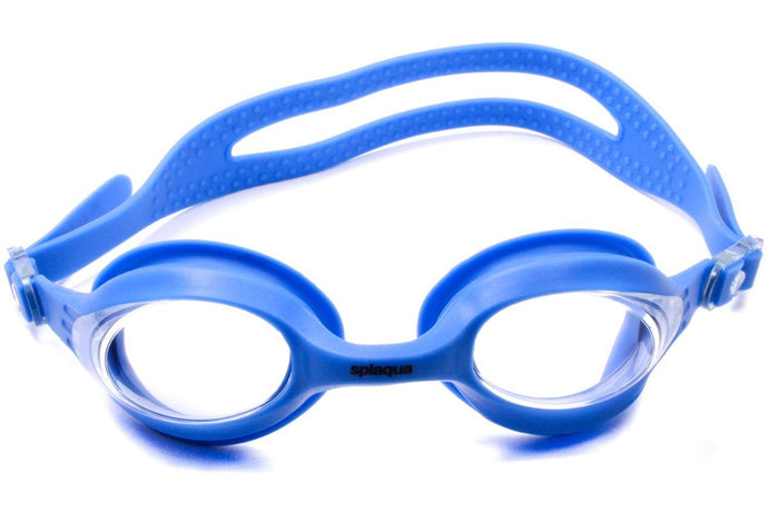 Splaqua Clear Prescription Swimming Goggles (Blue, -5.5)