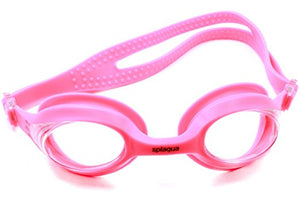 Splaqua Clear Prescription Swimming Goggles (Pink, -3.5)