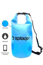 Waterproof Dry Bag for Boating, Water Sports and Hiking - Compression Sack Protects Equipment and Gear - by Splaqua