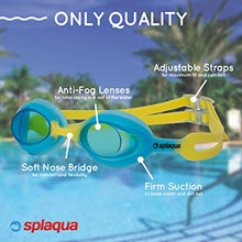 Swimming Goggles for Kids with UV Protection & Anti-Fog Lenses Includes Ear Plugs & Durable Holder - By Splaqua