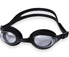 Splaqua Tinted Prescription Swimming Goggles (Black, -4)