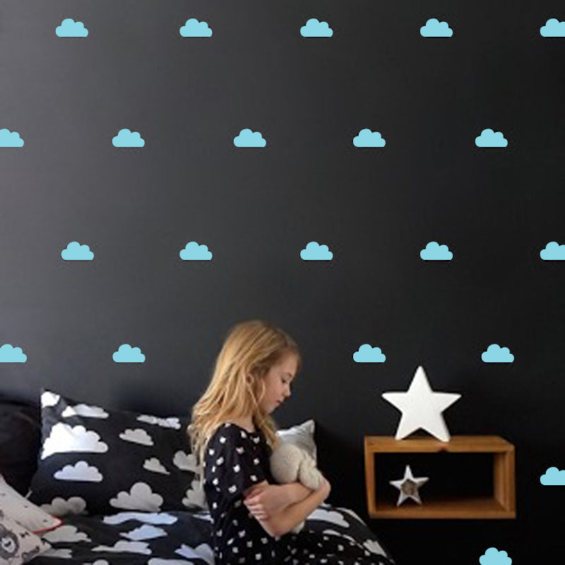 Colorful Little Cloud Wall Stickers for Nursery Room Decor