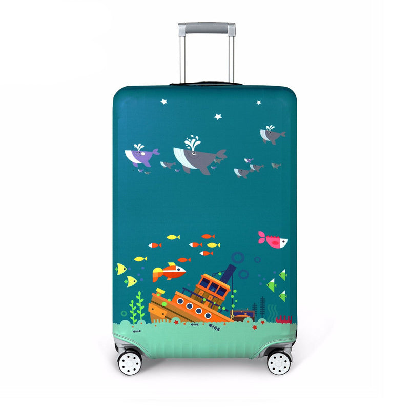 Colorful Elastic Protective Suitcase Cover