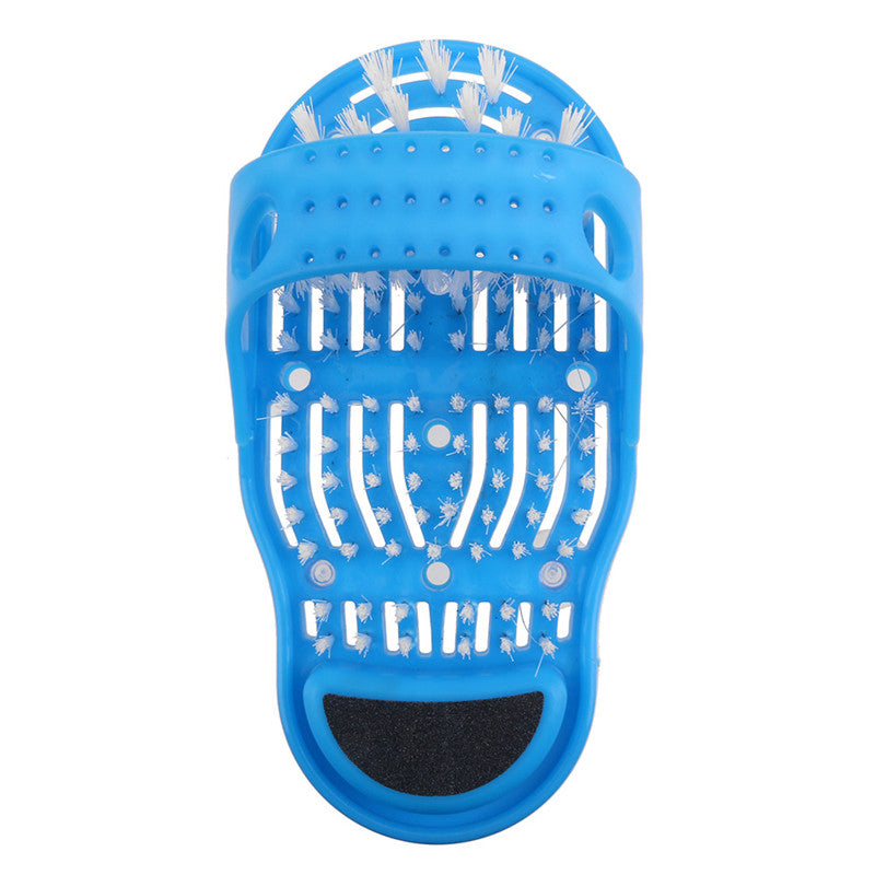 Plastic Shower Massager Slippers With Foot Scrubber And Brushes