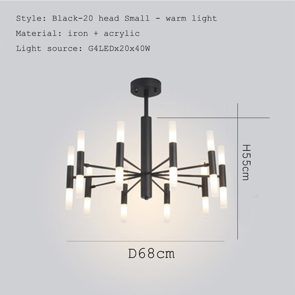 Classic Iron LED Chandelier