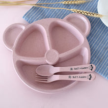 Load image into Gallery viewer, Cartoon Bear Shaped Dinnerware 3 pcs/Set