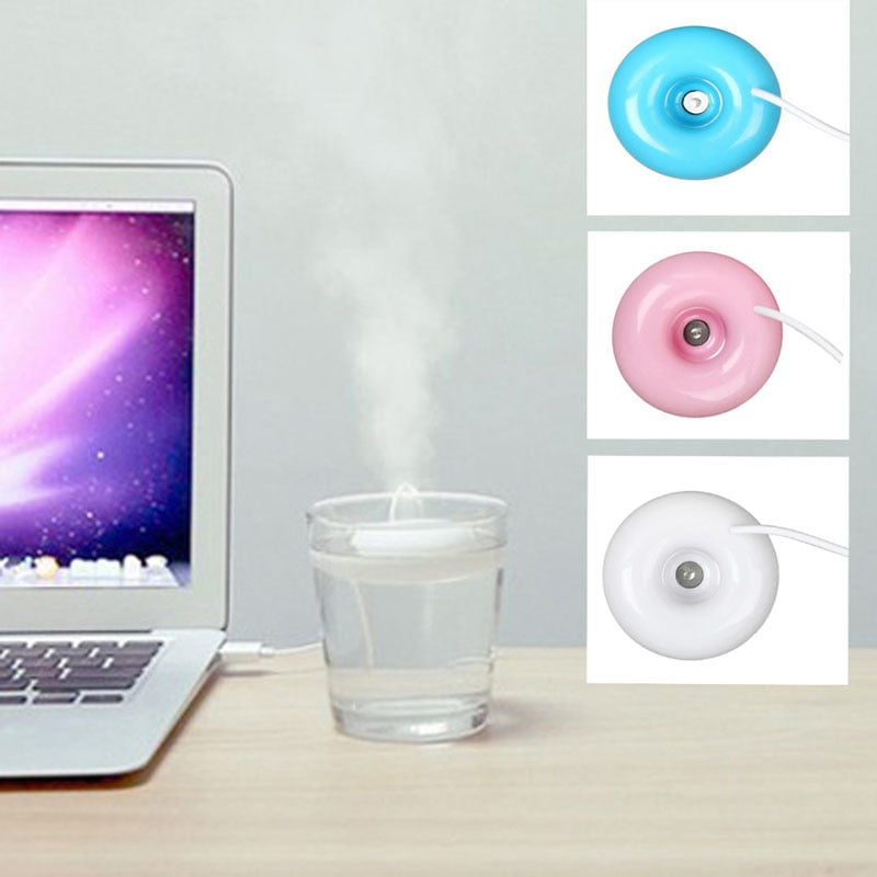 Colorful Portable Donut Shaped USB Air Humidifier