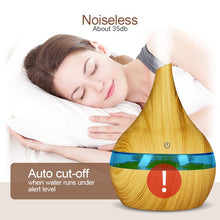 Load image into Gallery viewer, USB Electric Aroma air diffuser wood Aromatherapy
