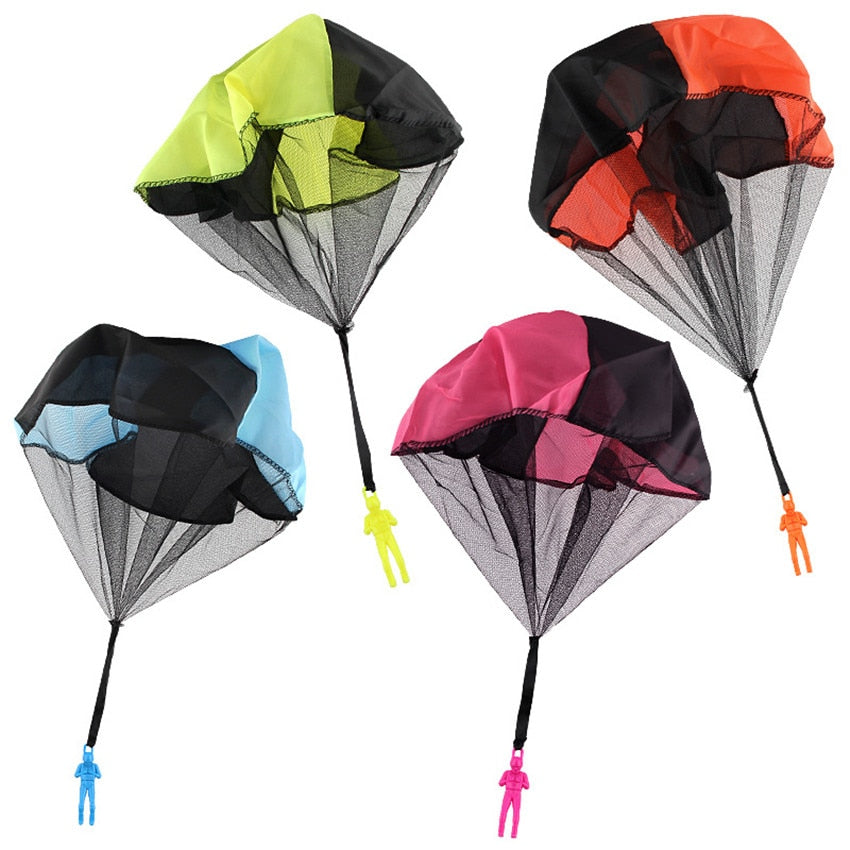 1PCS Hand Throwing kids Mini Play Parachute Toy