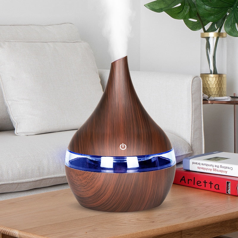 USB Electric Aroma air diffuser wood Aromatherapy
