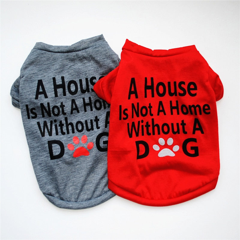 Cute Printed Summer Pets tshirt Puppy Dog Clothes
