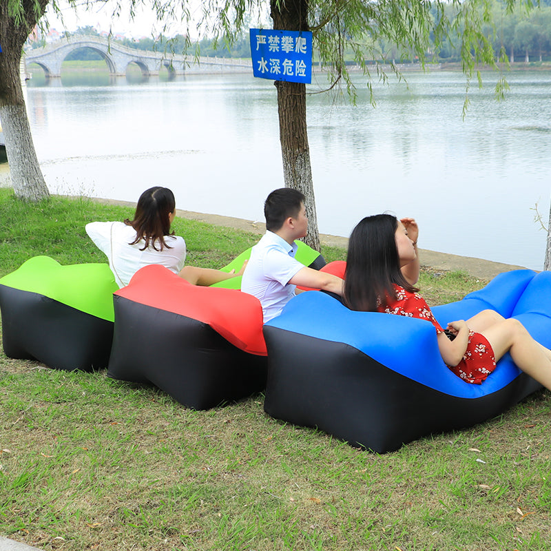 Outdoor lazy sofa sleeping bag portable folding rapid inflatable air sofa