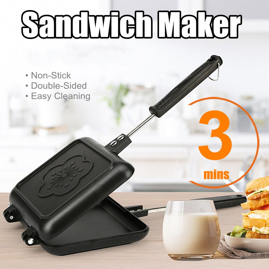 Double-Side Non-Stick Sandwich Maker Bread Toaster