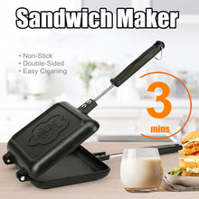 Load image into Gallery viewer, Double-Side Non-Stick Sandwich Maker Bread Toaster