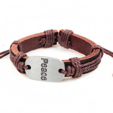 Load image into Gallery viewer, Christian I Love Jesus Charm Leather Bracelet