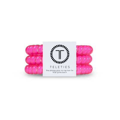 Hot Pink Small Teleties - Finley's Boutique