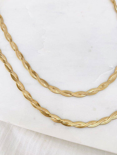 Twisted Snake Chain Necklace - Finley's Boutique