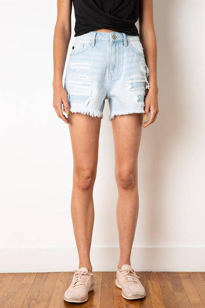Best Distressed Denim Shorts - Finley's Boutique