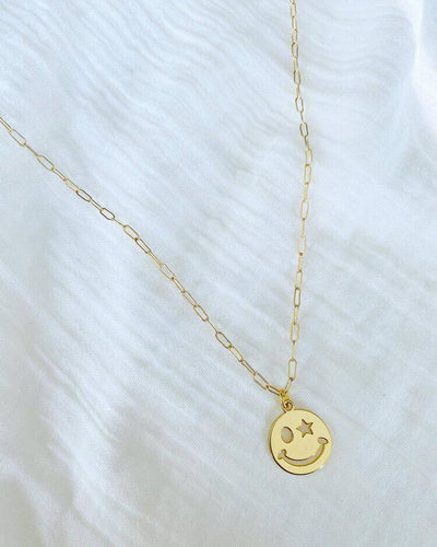 Star Smiley Necklace - Finley's Boutique