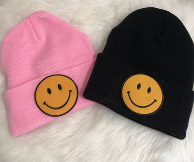 Keep Smilin' Beanie - Finley's Boutique