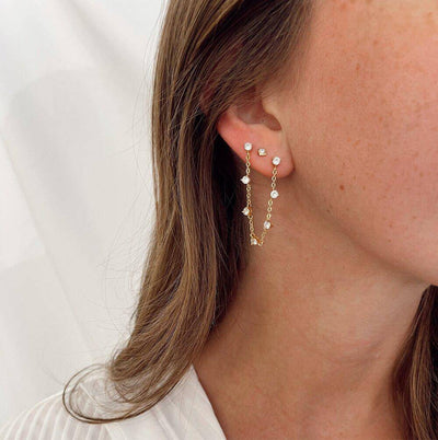 Linked Sparkle Studs - Finley's Boutique