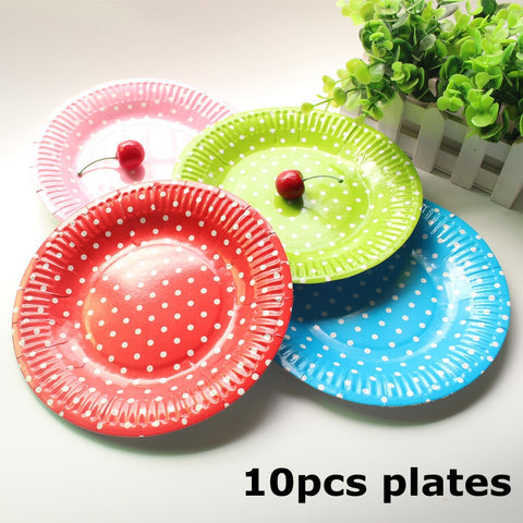 Dot Patterned Paper Plates ... : ninjago paper plates - pezcame.com
