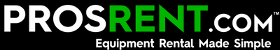 ProsRent.com Company Logo. Equipment Rental Made Simple.