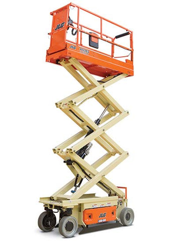 19 Ft Scissor Lift - Electric Construction Equipment Rental Project