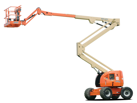 Articulating Boom Lift - 35 ft. Construction Equipment Rental Project
