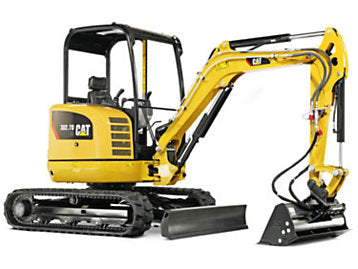 Mini Excavator (6000 lb) Construction Equipment Rental Project