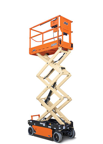 32 Ft Scissor Lift - Electric Construction Equipment Rental Project