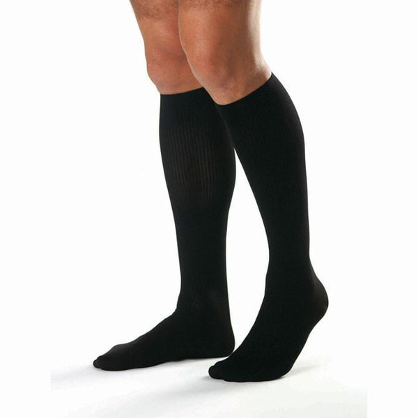 Jobst for Men Open Toe Ribbed Knee High Socks - 20-30 mmHg