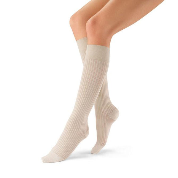 Jobst soSoft Ribbed Knee High Socks - 20-30 mmHg